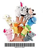 WINOMO Finger Puppets Hand Puppets 10pcs Different Style Velvet Dolls