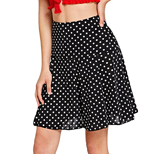Damen Hohe Taille Welle Rock Mode Mädchen Sexy Uniform Plissee Minirock Schwarz S-XL