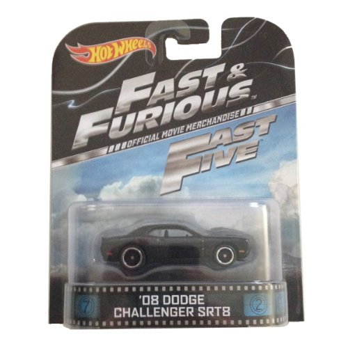 \'08 Dodge Challenger SRT8 Fast & Furious Fast Five Hot Wheels 1:64 Retro Entertainment Die Cast by Hot Wheels
