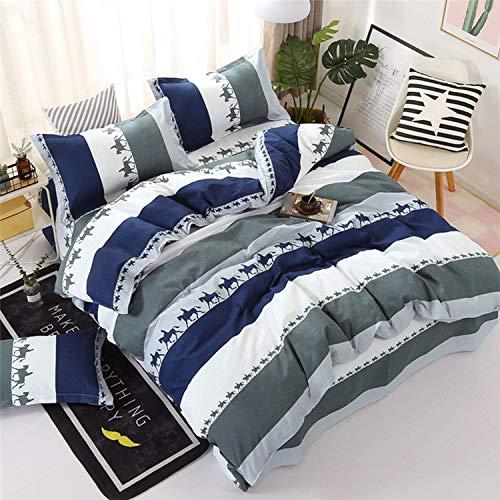 Bettwäsche-Sets XQU Cartoon-Katze 52pcs Mädchen-Junge-Kind-Bett-Abdeckung Set Bettbezug Erwachsene Kinderbett Bettwäsche und Kissenbezüge, König, Dame Tröster Bettwäsche-Set -