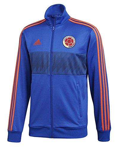adidas Herren 3Fußball Kolumbien 3Stripes Track Top, Herren, Colombia 3 Stripes Track Top, blau - Fußball Adidas Kolumbien