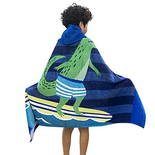 F.lashes 100% Baumwolle Kinder Kapuzen Handtuch Bade Badetuch für Jungen und Mädchen von 2-7 Jahren Strand 76 cm (Flash-kapuzen-handtuch)