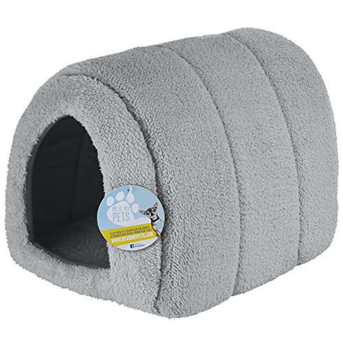Me & My Pets - Haustierhöhle aus Fleece - grau (Fleece-katze)