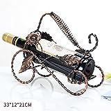 Weinregale YXX- Kleines Metallwein-Flaschen-Halter-Gestell Unter Kabinett-Mode-Holz-Wein-Ausstellungsstand für Arbeitsplatte (Farbe : Black)