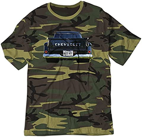 BSW Men's Nice Ass 1957 Chevrolet Task Force V8 Truck Shirt XS Camo