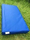 Suave Play colchoneta de aterrizaje para gimnasia–610gsm PVC/espuma de alta densidad–azul–100cm x 50cm x 10cm