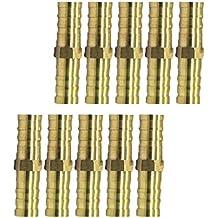 Sharplace Tubo de Manguera de Púas de Latón Conector Acoplador de Cobre - 10pcs ...