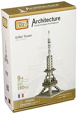 Loz Micro Blocks, Eiffel Tower Model, Small Building Block Set, Nanoblock Compatible (280 pcs), Makes a Great Stocking Stuffer by LOZ BLOCKS