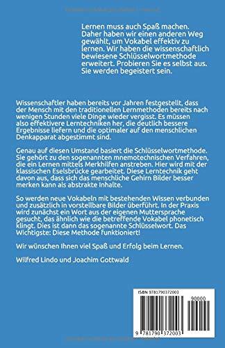 Vokabel Lernen mit Eselsbrücken. Lernen mit der Schlüsselwortmethode. Wortschatz speziell für Urlaub / Reise / Restaurant / Hotel (English / Deutsch) - 2