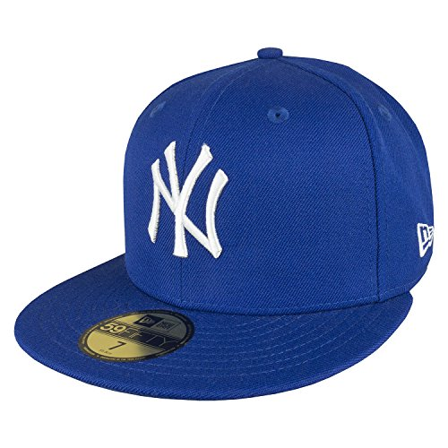 New Era Erwachsene Baseball Cap Mütze Mlb Basic NY Yankees 59Fifty Fitted Royal/White