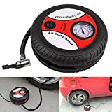 #4: J Go New Universal Portable Mini 12V Car Air Compressor Pump Tire Inflator Pump 260Psi with Nozzle Adapter Motorcycle Auto Pump-AIR Compressor