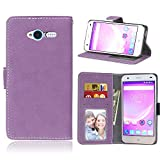 ZTE Blade L3 Case, SATURCASE Retro Frosted PU Leather Flip