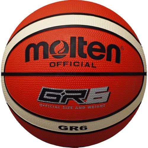 molten Basketball, Orange/Ivory, 6, BGR6-OI