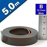 Bande magnétique autocollante super qualité - type B anisotrope - 1,5mm x 12,7mm x 5m