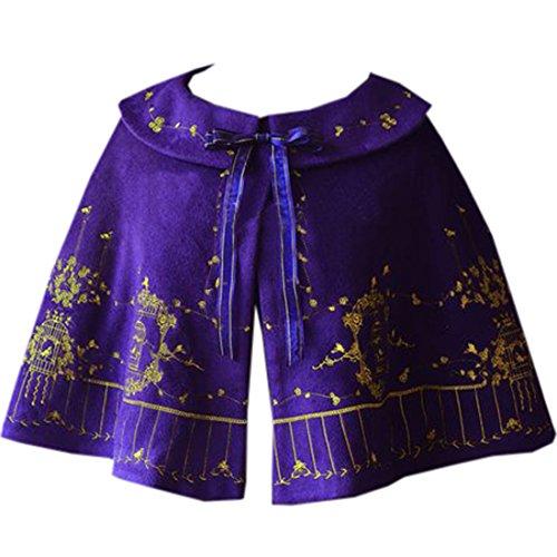 ische Sweet Winter Tops Cape Lolita Bowknots Cardigan, One Size, Lila (Cosplay Kostüme Zum Verkauf Frauen)