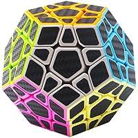 COOJA Megaminx Dodecaedro Cubo 3x3 Fibra de Carbono Megamix Cube Cubo de Magico Speed Cube Juego de Inteligencia