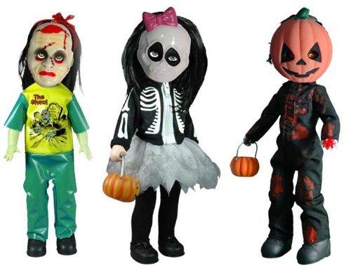 Living Dead Dolls Retro Halloween 2010 Set Of 3 by Mezco
