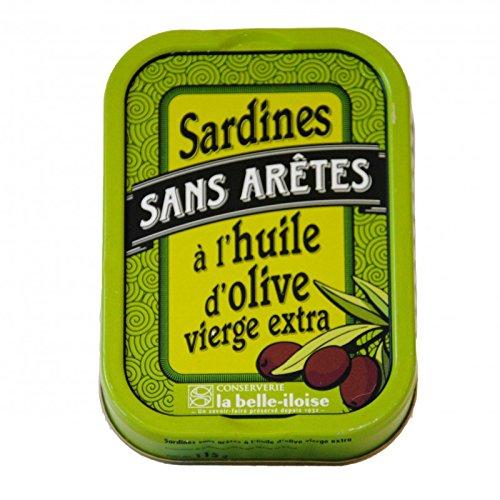 La Belle-Iloise Sardinen ohne Gräten in Olivenöl und Zitrone, 115 g