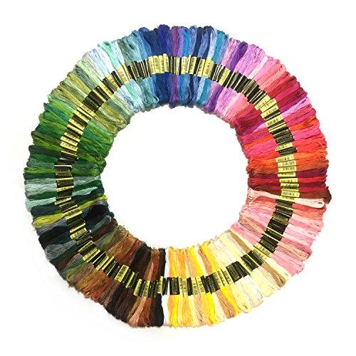Stickgarn, Wartoon MultifarbenEmbroidery Thread Nähgarne Stickerei Set für Kreuzstich Basteln Freundschaftsbänder (150 Farben)