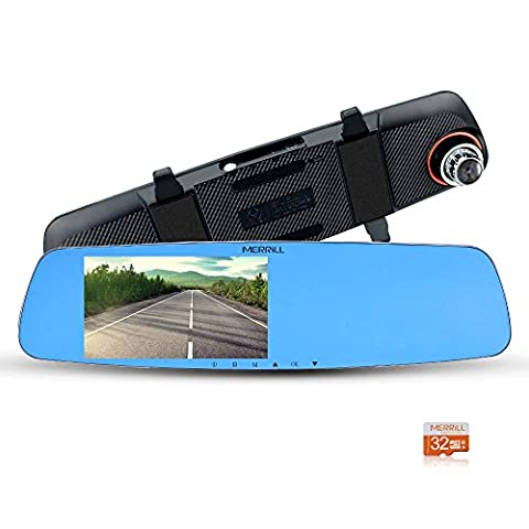 Merrill 1080P dash cam 5'' IPS LCD 170° Wide Angle Night Vision 15 megapixel and (Suggerimenti Per Le Prestazioni)