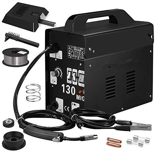 Sweepid Fülldraht-Schweißgerät MIG-130 Lüfterkühldraht 220V 50-120A Hochleistungs Schutzgas Schweißgerät Tragbare Schweissmaschine (Tragbares Schweißgerät 220v)