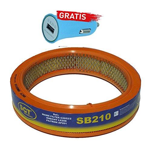 Preisvergleich Produktbild Original SCT Germany Luftfilter SB210 + Autoladegerät geschenkt