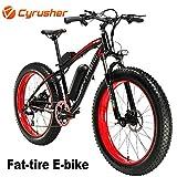 Cyrusher Extrbici XF660 48V 500 Watt Noir Rouge Mans Vélo électrique Vélo de Montagne 7 Vitesses Vélo électrique Freins à Disque