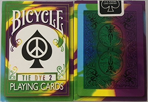 2nd Edition Rare Bicycle Tie Dye 2 Deck Playing Cards Tye Die Magic by Bicycle -