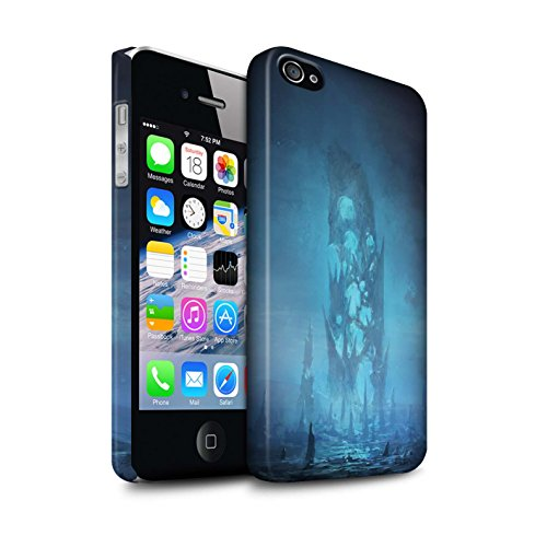 Offiziell Chris Cold Hülle / Matte Snap-On Case für Apple iPhone 4/4S / Pack 12pcs Muster / Fremden Welt Kosmos Kollektion Rest