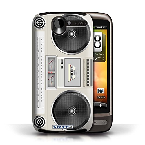Kobalt® Imprimé Etui / Coque pour HTC Desire G7 / Cassette Vidéo VHS conception / Série Retro Tech Boombox