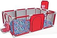 Orzbow Parque Infantil Bebés, Plegable Valla de Juegos para Niños,Corralito para bebés - Valla de Seguridad pa
