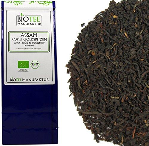 Assam Kopili Goldspitze – Bio, Schwarzer Tee lose (1 x 100g)