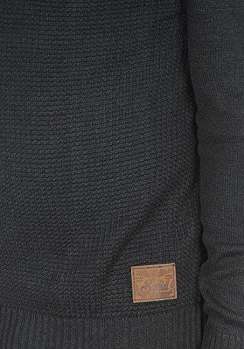 SOLID Turi - Pull en Maille- Homme Dark Grey Melange