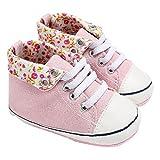 Botas de bebé, Amlaiworld Zapatos de bebé niño niña recién nacido cuna zapatillas 0-18 Mes (Tamaño:6-12Mes, Rosa)