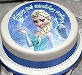 Fabulous Cake Toppers Disney Frozen Prinzessin Elsa Personalisierter Tortenaufsatz Zuckerguss-Papier mit 5
