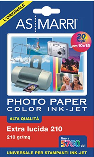 AS MARRI 08869 Glossy Photo Paper 20 A6 10 x 15 cm (A6) Fotopapier