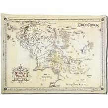 Poster El Señor de los Anillos Mapa de la Tierra Media (65,8cm x 46cm) + 1 Póster con motivo de paraiso playero