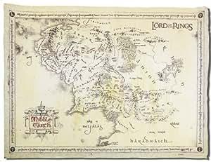 Close up le seigneur des anneaux carte de la terre du for Papier parchemin cuisine