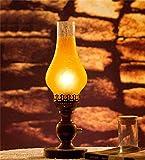 HYNH Tischleuchte QiangDa Tabelle Lampe Licht Schreibtisch Lesen Europäische Retro Garten alte Petroleumlampe Schlafzimmer Nachttischlampe Dimmer Schwanger Neue Lampe (Stil : 8902)