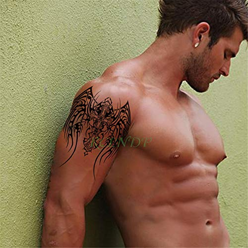5 Unids-Etiqueta Engomada del Tatuaje Temporal a Prueba de Agua Tribal Totem patrón geométrico Tatto Tatuajes Grandes Tatuajes para Mujeres Mujeres Hombres niños 5 Unids-