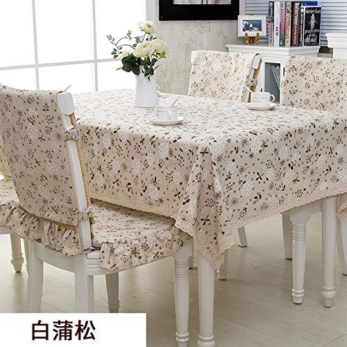 Song Salbei (Kreative couchtisch tischdecke pvc wasserdicht verbrühschutz rechteckigen ländlichen wind floral tisch couchtisch tischdecke wohnzimmer hause frische tischdecke weiß Pu Song [140 * 190 cm])
