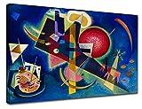 Bild Kandinsky In Blau - WASSILY KANDINSKY In Blue Leinwanddruck auf Leinwand mit oder ohne Rahmen - wählen Sie die gewünschte Größe von - cm 50 bis 130 cm Breite (DRUCKEN AUF CANVAS (OHNE RAHMEN), CM 130X95)