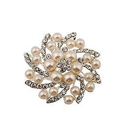 Hosaire 1 Stück Brosche Mode Diamantbesetztes Design Weiss Hochzeit Broschen Bekleidungs Schmuck