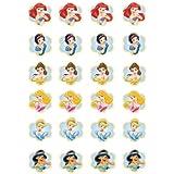 24 Décorations de topper comestibles Coupe du gâteau Princesses Disney