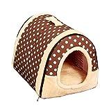 Pet Bed Large Dog Doghouse Winter Warm halten Waschbar Vier Jahreszeiten Hundehütte Indoor Doghouse 4 Farben 4 Größe Optional (Farbe : B, größe : M)