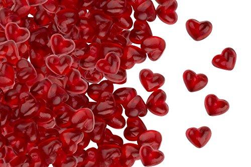 Fruchtsaft Herzen, Himbeere, zum Valentinstag oder Muttertag, Fruchtgummi in Herzen-Form, im 500g...