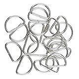 Perfeclan D-Ringe Halbringe, 100 Stück für Gurt/Band - Weiß, 20x10x2.5mm
