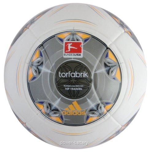 adidas Trainingsball Torfabrik DFL Saison 2013/2014, Wht/Silver/Zest/Mtsil, 5, G73537