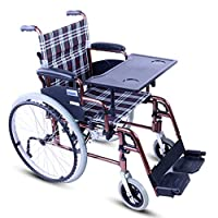 Wheelchair Folding lightweight wheelchair Wheelchair with table Aluminum alloy wheelchair Elderly disabled wheelchair