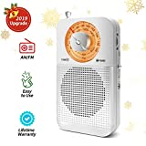 Portable AM/FM Radio, Pocket Radio with Headphone Jack, Best Reception, Battery Operated Personal Transistor by 2 AA Battery for Jogging,Walking and Travelling(916-S)